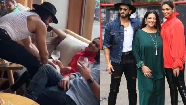 शर्ट उतार रणवीर सिंह ने दीपिका पादुकोण को 'छेड़ा', मम्मी पापा के साथ किया जमकर डांस- Video