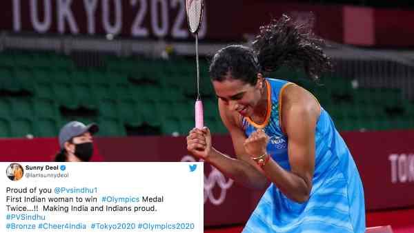 स्टार्स ने मनाया ओलंपिक्स 2020 में पीवी सिंधू की जीत का जश्न - करीना, सनी देओल, कंगना, वरूण के ट्वीट