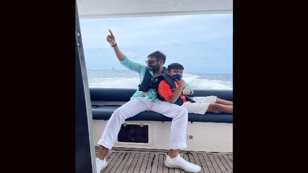अजय देवगन ने मालदीव से पोस्ट की तस्वीर, बेटे युग के साथ मस्ती करते आए नजर!