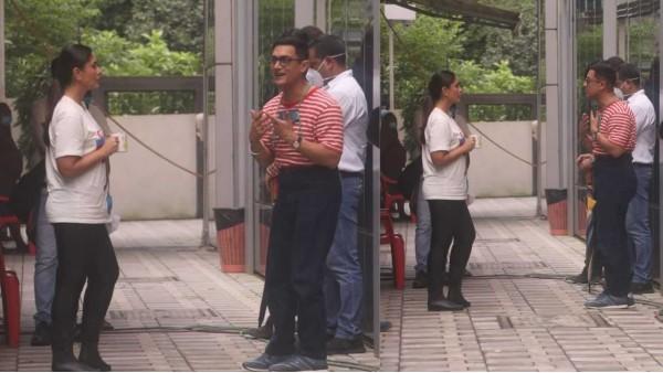 फिर शुरु हुई लाल सिंह चड्ढा की शूटिंग, करीना कपूर खान के साथ नजर आए आमिर खान!