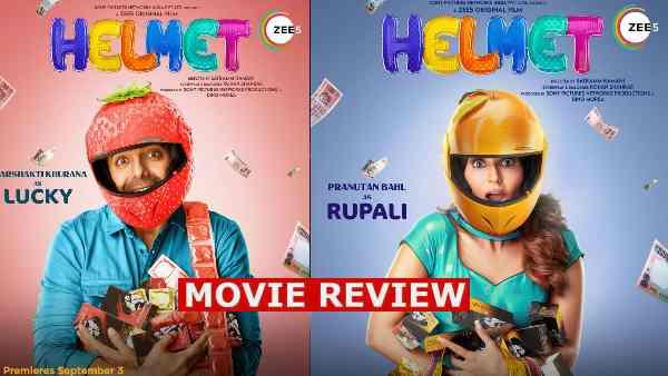 हेलमेट फिल्म रिव्यू: ज़ी 5, अपारशक्ति खुराना, प्रनूतन बहल, अभिषेक बनर्जी, आशीष वर्मा