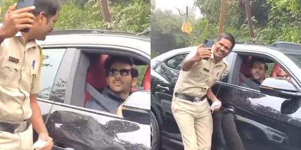 कार्तिक आर्यन भूल गए जंगल में रास्ता, पुलिसवाले लेने लगे सेल्फी,VIDEO वायरल