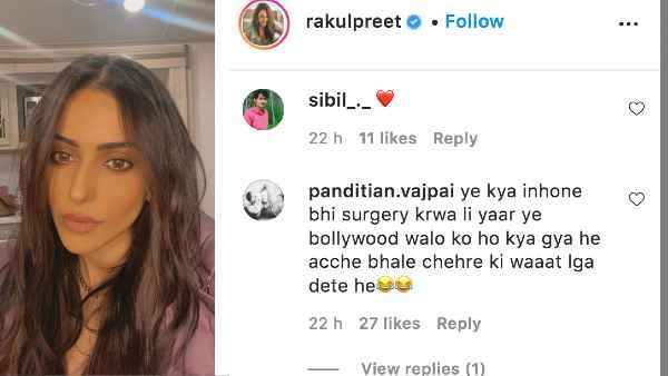 अक्षय कुमार के साथ शूट करने के बाद रकुल प्रीत सिंह ने शेयर की नई तस्वीर, फैन ने कहा - इसने भी सर्जरी करवा ली