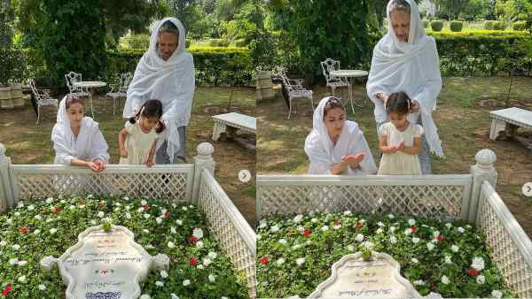 नवाब पटौदी की 10वीं पुण्यतिथि: शर्मिला टैगोर-सोहा अली खान के साथ नाना के लिए दुआ पढ़ती दिखीं नन्हीं इनाया