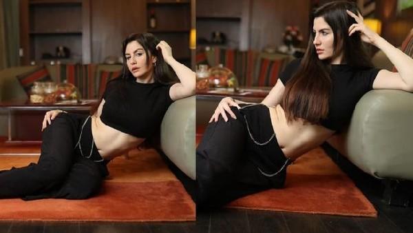 जॉर्जिया एंड्रियानी ने शेयर की लेटेस्ट तस्वीरें, ब्लैक ड्रेस में लग रहीं कमाल