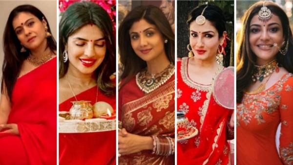 Karva Chauth: शिल्पा शेट्टी, रवीना टंडन से प्रियंका चोपड़ा तक, करवा चौथ पर देखिए बॉलीवुड हसीनाओं की तस्वीरें