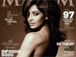 Complaint Filed Against Bipasha Basu Obsence Maxim Aid