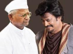 Rajinikanth Says Anna Hazare Is His Hero Aid