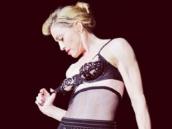 Madonna Shows Her Breast At The Concert Istanbul