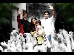 Aaradhya Bachchan Greets Grandpa Big B Fans