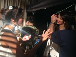 Aishwarya Rai Bachchan Freida Pinto Met At Cannes Film Festival