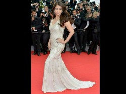 Aishwarya Rai In White Gown At Second Day At Cannes