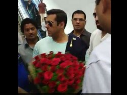 Pics Salman Khan Reached Hyderabad For Arpita Marriage
