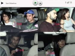 Karan Johar Couple Party Aamir Khan Katrina Kaif Anushka Sharma Virat Kohli