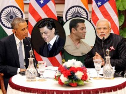 Narendra Modi Barack Obama Same Day Praised Salman Shahrukh