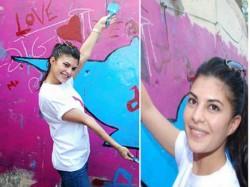 Jacqueline Fernandez Turns Painter For Roy Promotions