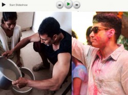 Farhan Akhtar Bollywood Stars Celebrate Holi