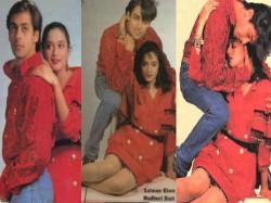 Salman Khan Madhuri Dixit Unseen Sensuous Photoshoot