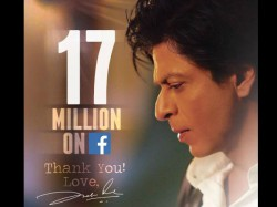 Shahrukh Khan Crosses 17 Million Followers In Facebook