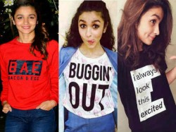 Alia Bhatt And Her Tshirts With Quotes Cute And Cool Pics