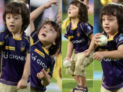 Shahrukh Khan Son Abram Cute Pics At Ipl Match