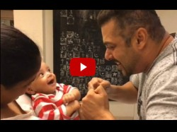 Viral Video Salman Khan Playing With Nephew Ahil Is Breaking Internet