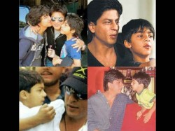 Shahrukh Khan S Children Aryan And Suhana Cute Childhood Pics