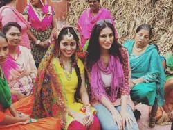 Nargis Fakhri Attends Wedding While Shooting
