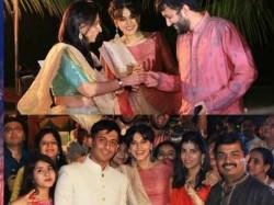 Tapsee Pannu Gatecrashes Wedding Sangeet Promote Runningshaadi Dot Com