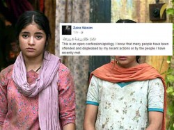 Year Old Dangal Actress Zaira Wasim Posts Shocking Apology