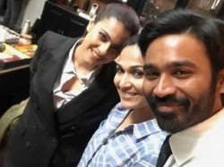 Kajol Poses A Selfie With Her Vip 2 Co Star Dhanush Director Soundarya