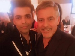 Karan Johar Poses An Epic Picture With George Clooney