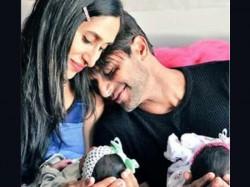 Naagin 2 Actor Karanvir Bohra Share Adorable Pics Their Twin Babies