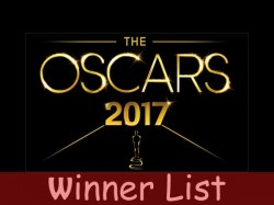 Oscar Award 2017 Complete Winner List