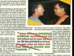 Salman Khan S Interview With Newspaper Denies Slapping Aishwarya Rai