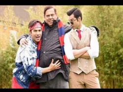 Varun Dhawan And His Twin Brother Judwaa 2 Poses With Daddy David Dhawan