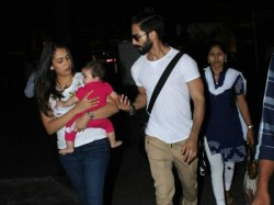 Shahid Kapoor Spotted With Wife And Daughter Misha
