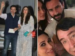 Saif Ali Khan Kareena Karisma Kapoor Party Style At Babita Birthday Bash