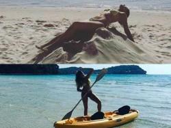 Nargis Fakhri Hits The Beach Over Again A Bikini