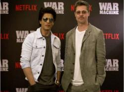 Shahrukh Khan Accompanies Brad Pitt In War Machine Promotion