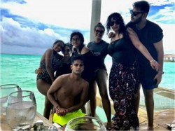 Ajay Devgn And Kajol Are In Maldives For Holiday With Family
