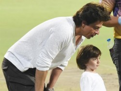 Shahrukh Khan Racing With Son Abram Eden Gardens See Pics