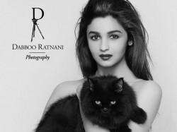 Alia Bhatt Topless Pose For Dabboo Ratnani Calendar With A Cat