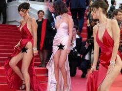Cannes Film Festival Media Captured Actress Bella Hadid Oops Moment