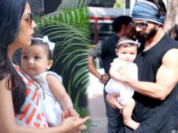 Shahid Kapoor Mira Rajput Spotted With Daughter Misha
