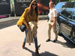 Deepika Padukone Lands In Cannes View Pic