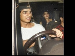 Shahid Kapoor Brother Ishaan Khattar Spotted With Jahanvi Kapoor At Baywatch Screening