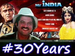 Anil Kapoor Sridevi S Mr India Clocks 30 Years