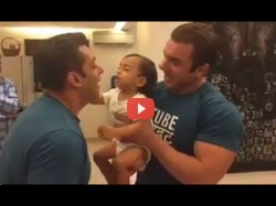 Salman Khan And Ahil Relive Sultan Moment See Cute Video