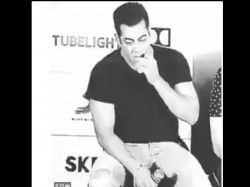 Salman Khan Viral Video Of Eating Jeans During Tubelight Promotion